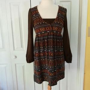 Lulumari boho sweater dress with embroidery